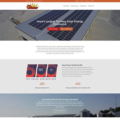 CB Solar Inc - website screenshot