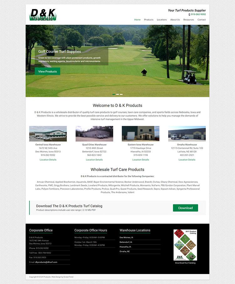 D K Products Screentrend Web Design Seo Company