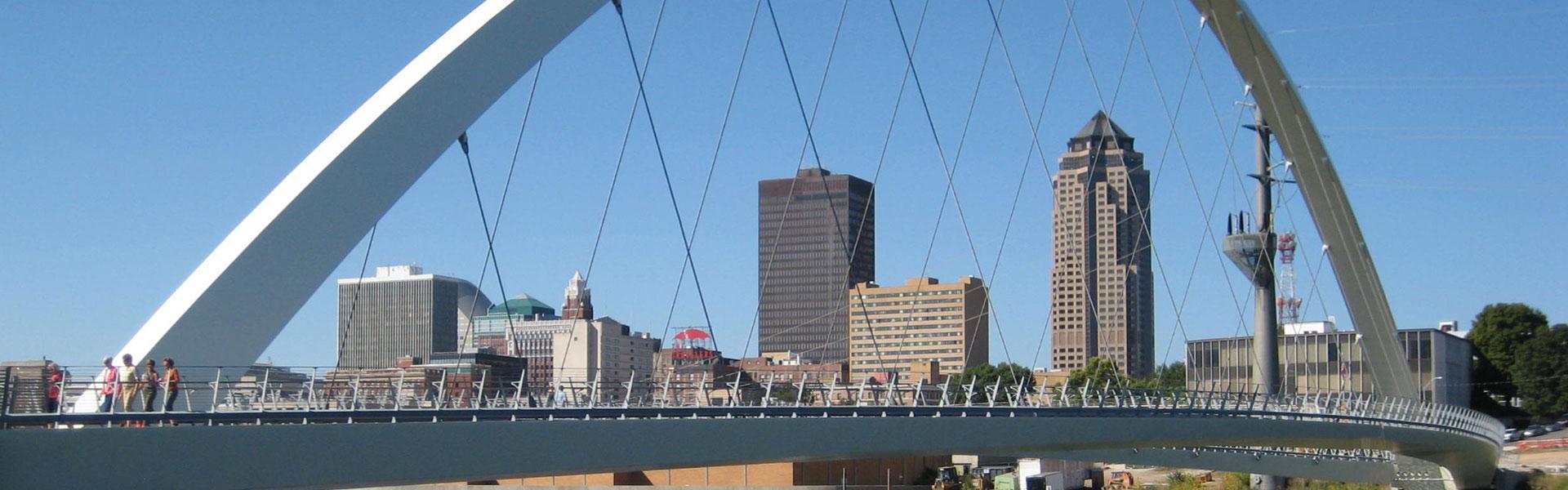 Skyline downtown Des Moines