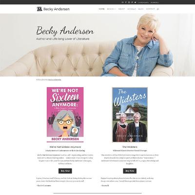Becky Andersen website screenshot