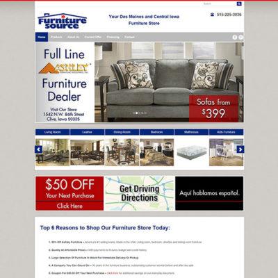 Furniture Source website